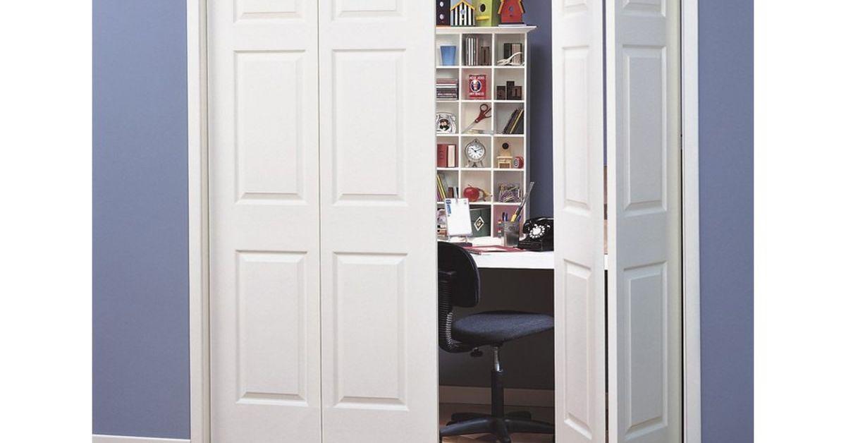 Painted Closet Doors In Husbands Den Hometalk