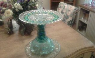 recycled glassware to garden bird bath, crafts, pets animals, repurposing upcycling