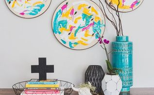 diy repurposed embroidery hoop to modern wall art, crafts, how to, repurposing upcycling, wall decor