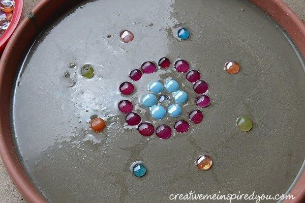 Make A Sparkling Birdbath With Glass Marbles Hometalk