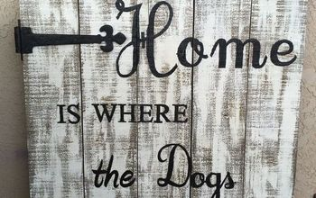 repurposed old pallet to cool porch sign, crafts, how to, pallet, repurposing upcycling, The finished product