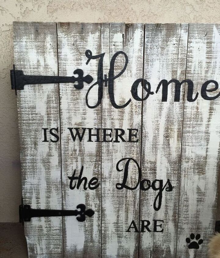 repurposed old pallet to cool porch sign, crafts, how to, pallet, repurposing upcycling