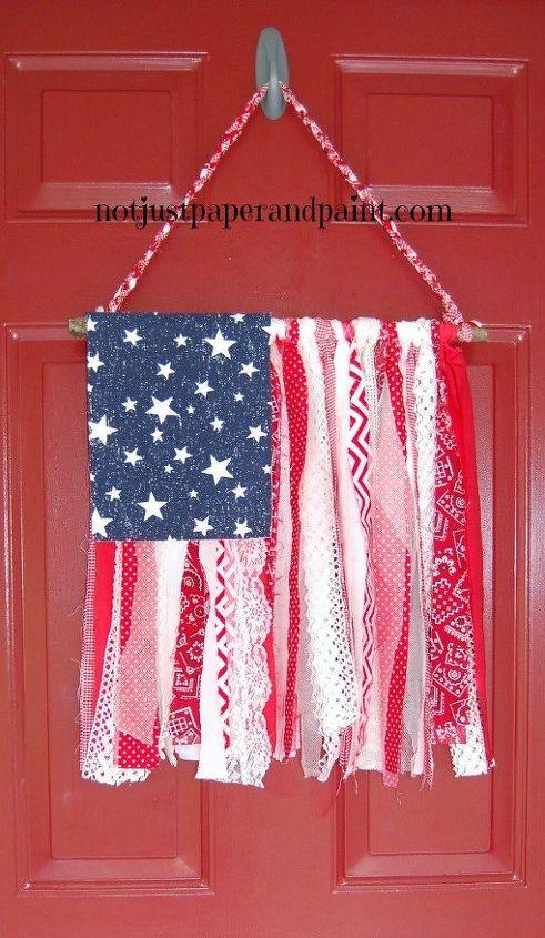 shabby chic amercan flag, crafts, how to, patriotic decor ideas, seasonal holiday decor, shabby chic