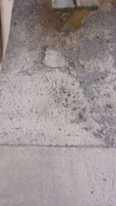 q cement sidewalk crumbling, concrete masonry, home maintenance repairs, The top layer of cement is gone leaving the aggregate exposed
