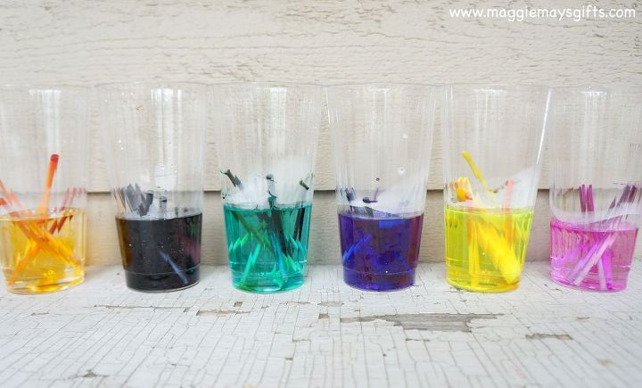 how to make watercolor paints using dried markers, crafts, how to, repurposing upcycling