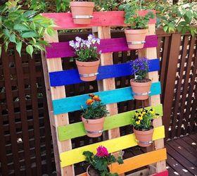 Diy Upcycled Pallet Rainbow Flower Garden, Container Gardening, Flowers,  Gardening, Pallet,