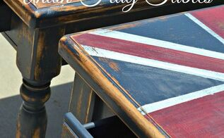 chalk painted union flag tables, chalk paint, painted furniture