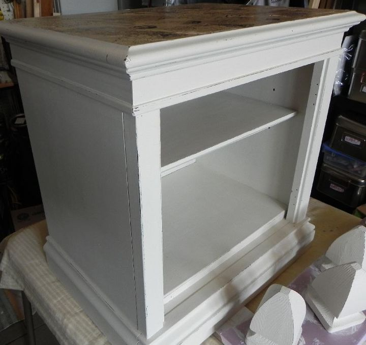 Brown Cabinet Makeover Using Decoupage And Chalk Paint Hometalk