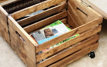 diy storage ottoman using wooden crates, how to, living room ideas, organizing, painted furniture, repurposing upcycling, storage ideas