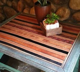 Rustic End Table In Bliss, Painted Furniture, Rustic Furniture