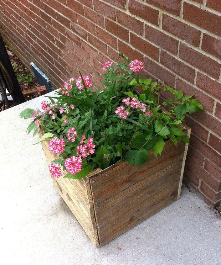 williams sonoma inspired diy planter, container gardening, flowers, gardening, woodworking projects