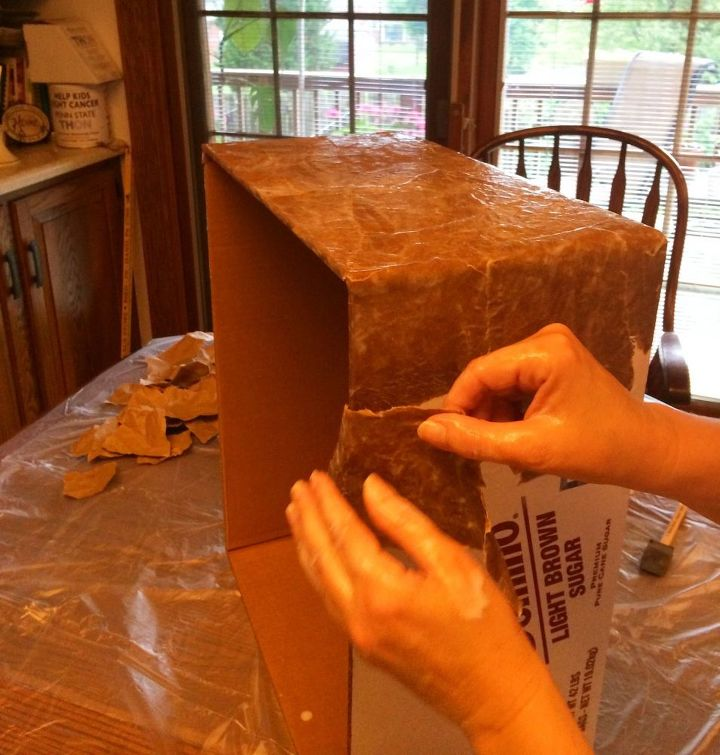 how to make a dress up trunk from a repurposed cardboard box, crafts, how to, repurposing upcycling