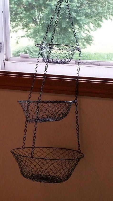 from repurposed hanging fruit basket to bicycle wall art hometalk