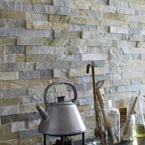 Slate tile wall and mismatched tile. What to do?! | Hometalk