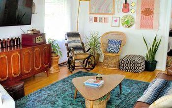 Room Reveal- Boho Vintage Living Room