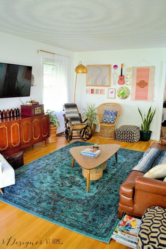 Room Reveal- Boho Vintage Living Room | Hometalk