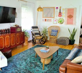 Room Reveal Boho Vintage Living Room, Living Room Ideas, Repurposing  Upcycling, Storage Ideas