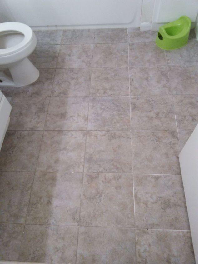 Bathroom Floor Update For 30 Budget