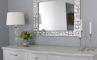 diy knock off metallic mirror frame, crafts, home decor, how to, wall decor