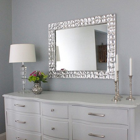 DIY Knock-off Metallic Mirror Frame | Hometalk