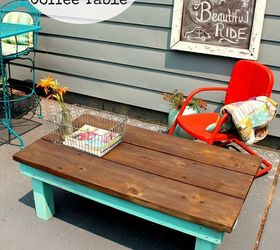 DIY Vintage Inspired Farmhouse Style Coffee Table DeckedOut Hometalk