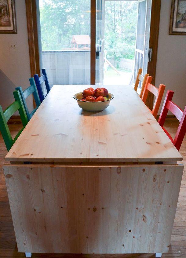 Rainbow Painted Kitchen Set Design Furniture