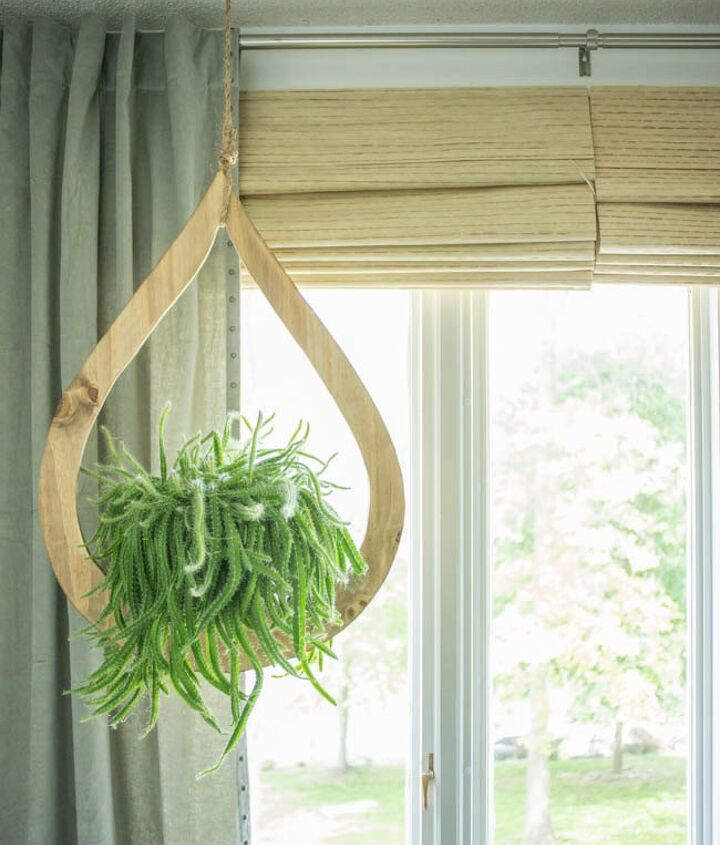 mid century modern diy hanging planter, container gardening, crafts, gardening, home decor, how to