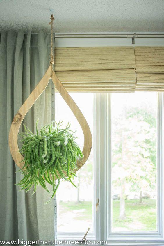 mid century modern diy hanging planter, container gardening, crafts, gardening, home decor, how to