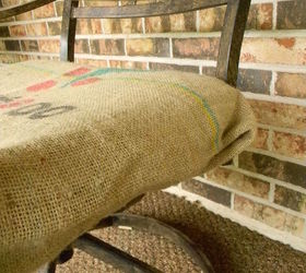 No Sew Burlap Sack Cushion Covers, How To, Outdoor Furniture, Outdoor  Living,
