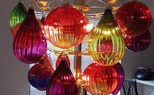 revamped retro chandelier, lighting, repurposing upcycling