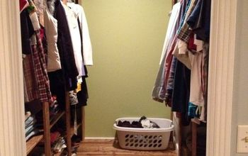 master closet makeover project on a whim, closet, diy, how to, organizing, shelving ideas, woodworking projects