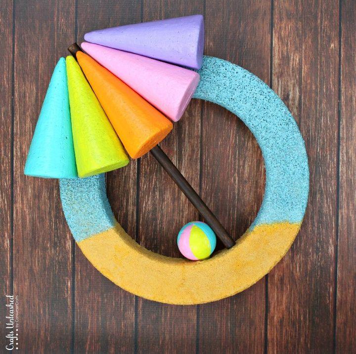 beach inspired summer wreath, crafts, how to, wreaths