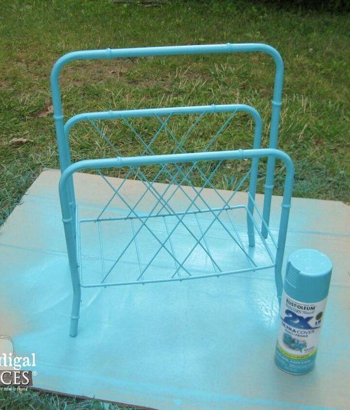 magazine rack update, crafts, painting, repurposing upcycling
