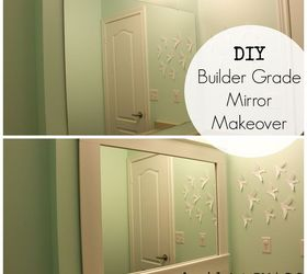 Bon Diy Builder Grade Bathroom Mirror Makeover, Bathroom Ideas, Home Decor, How  To