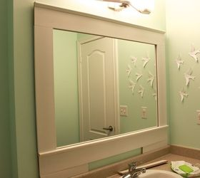 Diy Builder Grade Bathroom Mirror Makeover, Bathroom Ideas, Home Decor, How  To