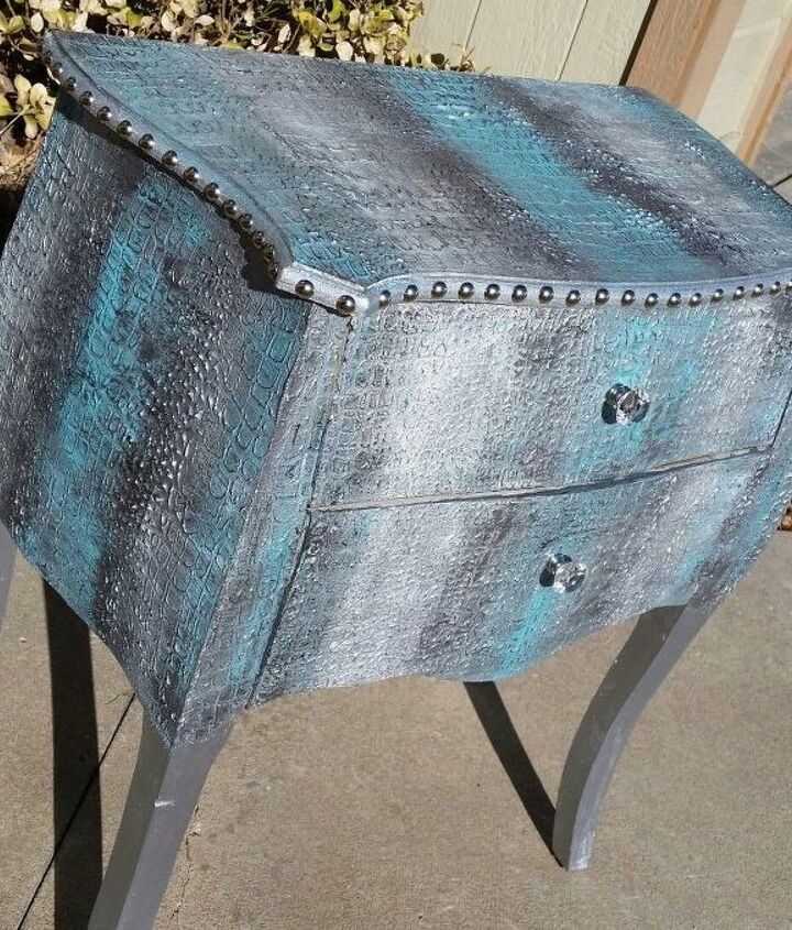 Side table created by Angie Stewart