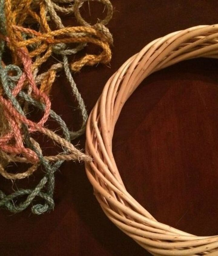 tie dyed rope wreath, crafts, how to, repurposing upcycling, wreaths