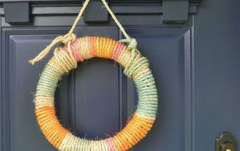 Tie-Dyed Rope Wreath