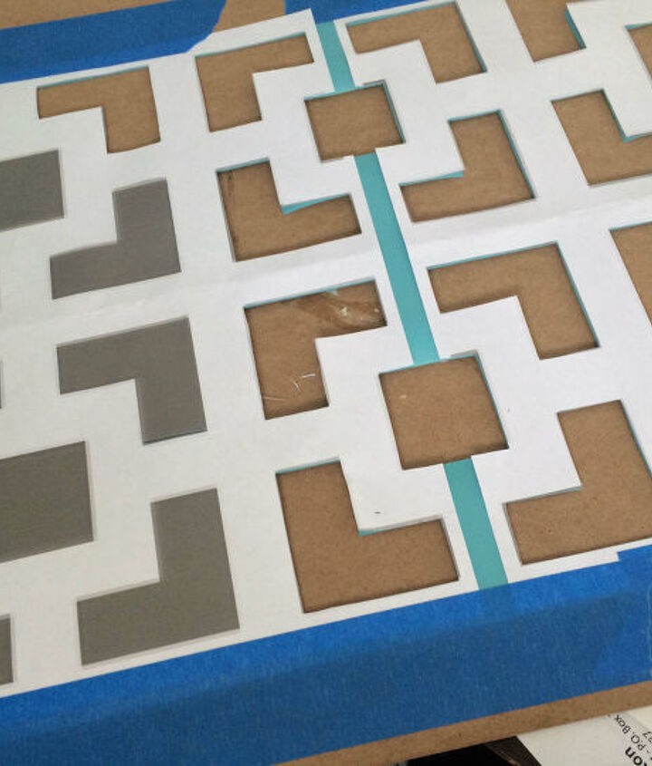 diy floor stencil, curb appeal, flooring, how to, painting