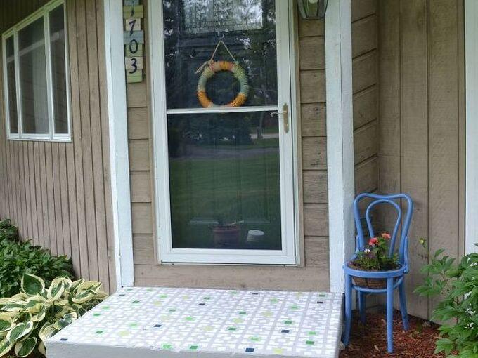 diy floor stencil, curb appeal, flooring, how to, painting