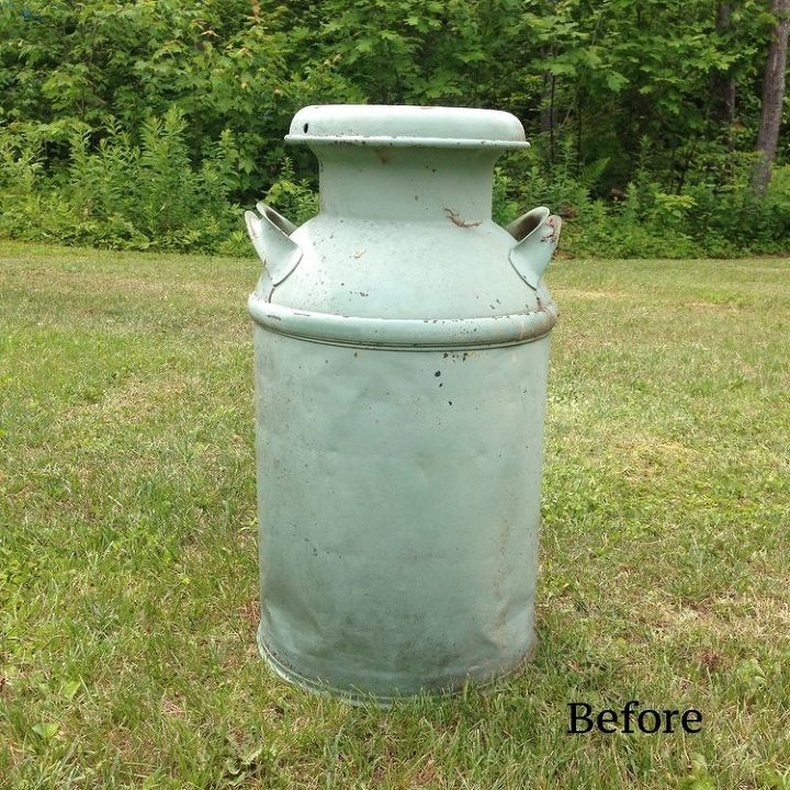 repurposed milk can to house number, crafts, curb appeal, repurposing upcycling
