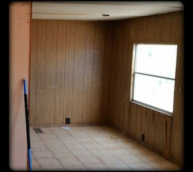 Remodeling a mobile home.