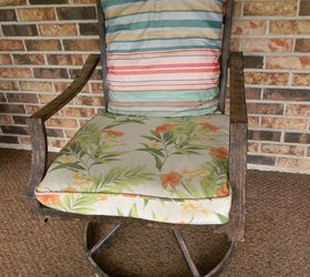 No Sew Burlap Sack Cushion Covers, How To, Outdoor Furniture, Outdoor  Living, Part 83
