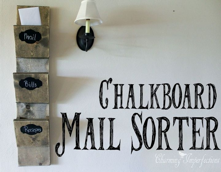 diy chalkboard mail sorter, chalkboard paint, crafts, how to, organizing, woodworking projects