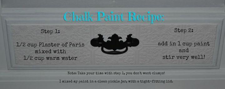 DIY Chalkpaint Recipe Using Plaster Of Paris Hometalk - Plaster of paris chalk paint