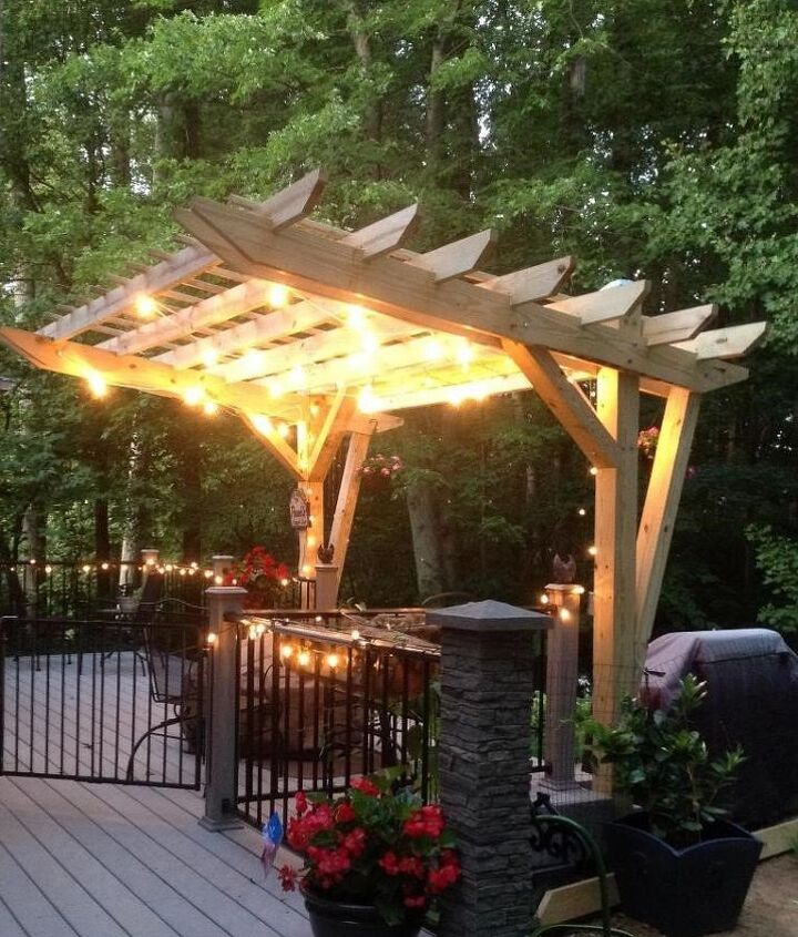 Cantilevered pergola over part of our deck