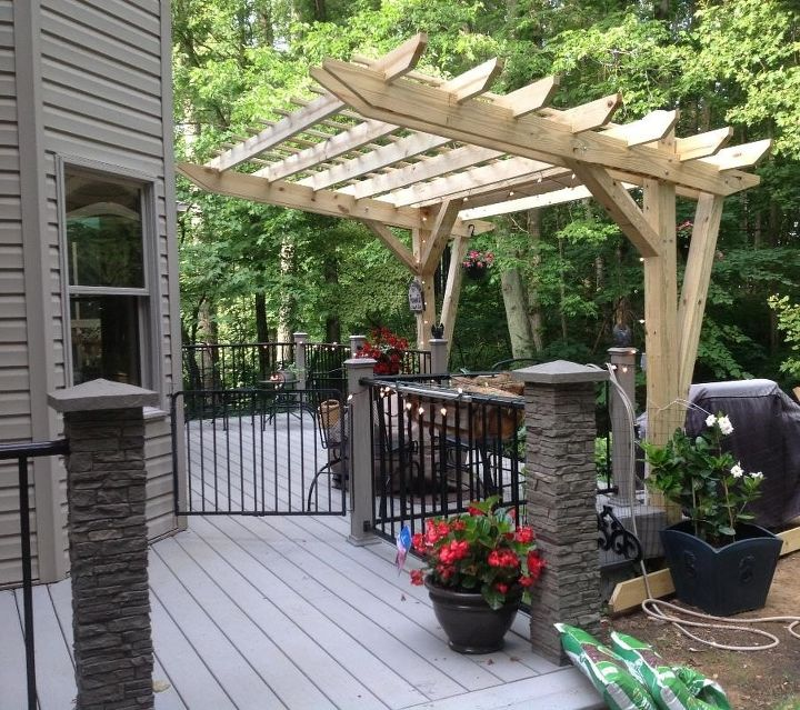 cantilevered pergola diy designed and built hometalk. Black Bedroom Furniture Sets. Home Design Ideas