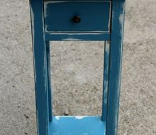 repainted side table, painted furniture, repurposing upcycling