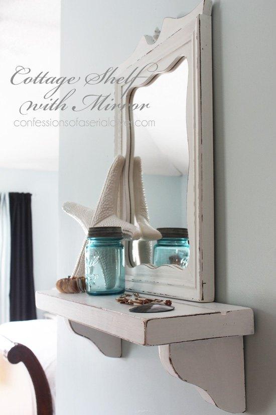 Cottage-inspired Mirror With Shelf | Hometalk