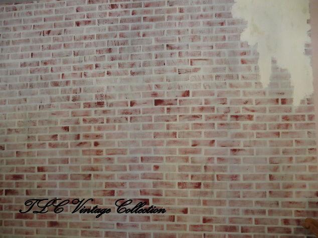 Vintage Faux Brick Painted Wall Decor Hometalk